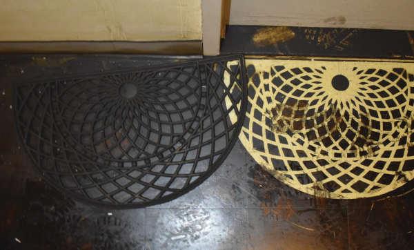 soot covered door mat